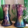 Pair of Poschinger vases