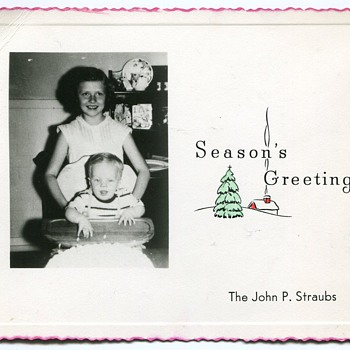 Early Fifties Christmas Photocards...... - Photographs