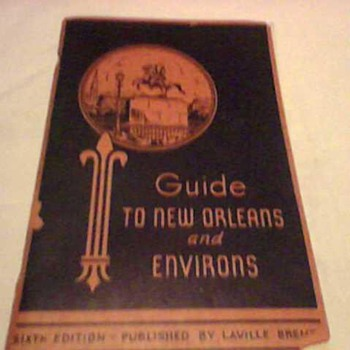 1940 ERA NEW ORLEANS GUIDE BOOK
