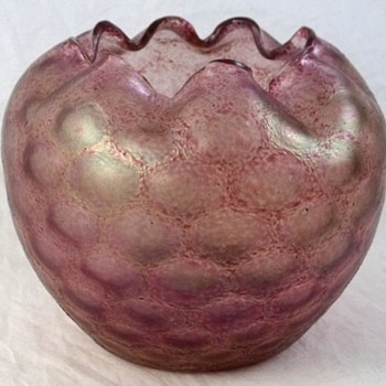 Rindskopf Pink Honeycomb Optic Rose Bowl
