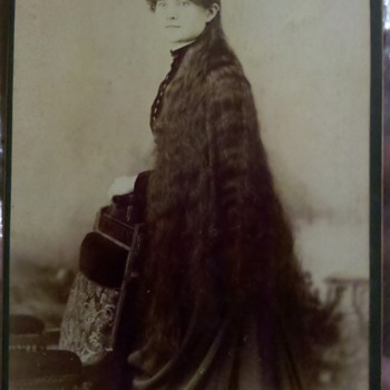 Victorian LONG haired woman photo - Photographs