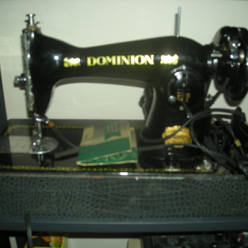 Gorgeous vintage sewing machine of unknown origin