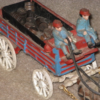 Metal Horses and Beer Wagon - Toys