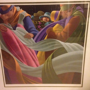 "Claude Theberge. 1934-2008 ,"" amants d autumne "",signed and numbered print - Visual Art"