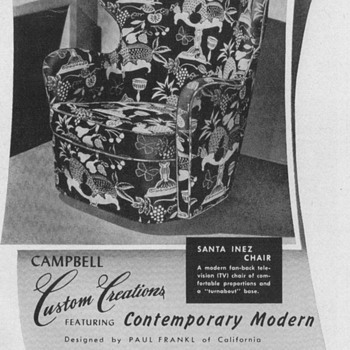 1950 Campbell Chair Advertisement - Advertising