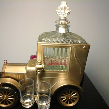 1918 Ford Model T Musical Decanter Set