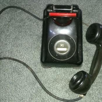 Kellogg 1000 Redbar Pre-Dial Telephone circa 1947