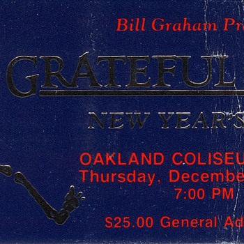 Grateful Dead Ticket Oakland Coliseum 1987 - Music