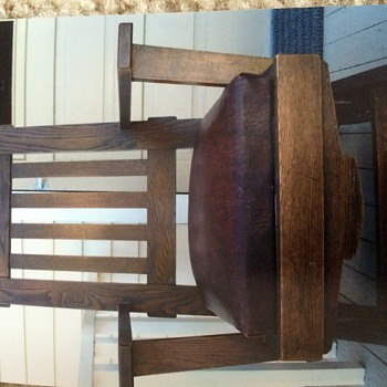 A. W. Schram & Sons company rocking chair