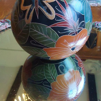 Ceramic from Nicaragua  and mirror - Art Pottery