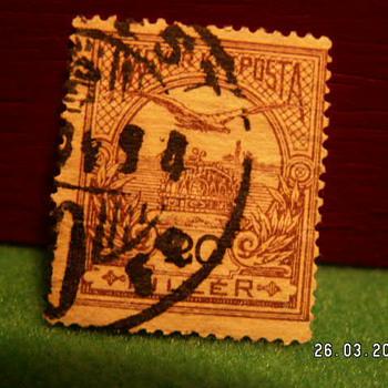 Vintage Magyar Posta 20 Filler Stamp ~ Used