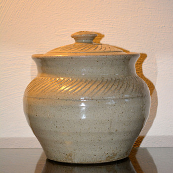 Hand Thrown Lidded Container/Bowl - Art Pottery