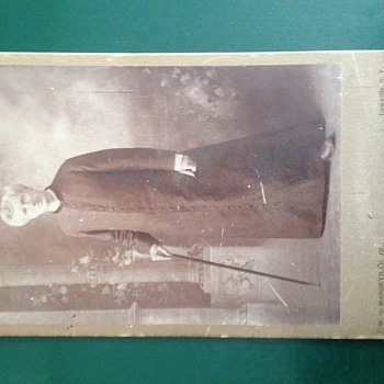 Old man photographs cabinet card