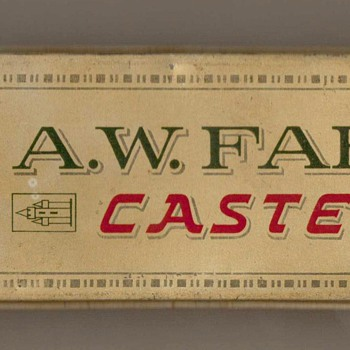 Vintage A.W. Faber Castell Pencil Tin - Advertising