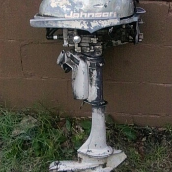 Vintage Johnson Outboard Motor  - Outdoor Sports