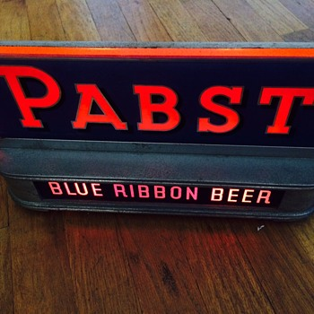 Pabst Lighted Sign - Breweriana