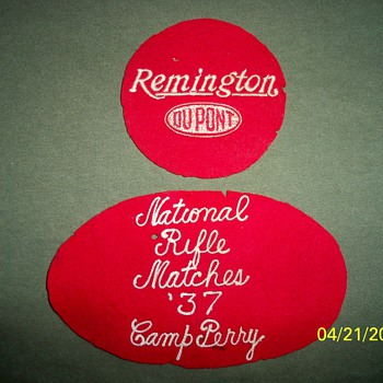1937 Camp Perry, Remington Patches - Military and Wartime