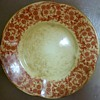 1867 Royal Worcester Plate with Red Flower Trim;  a mark