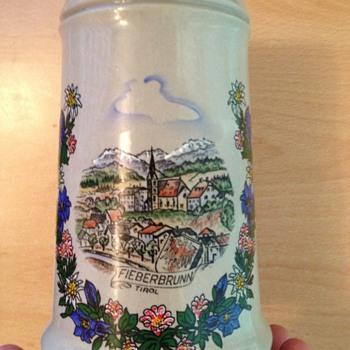 Handmade handpainted King Austria mug