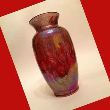 Furnace Decorated Lustre Vase