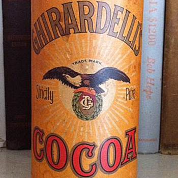 Ghirardelli cocoa &quot;tin&quot; - Advertising
