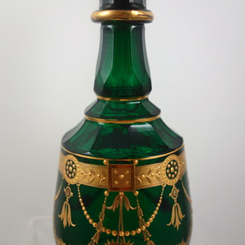 Harrach Scent Bottle, facet cut, ca. 1890 - Art Glass