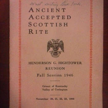 The Scottish Rite. - Books