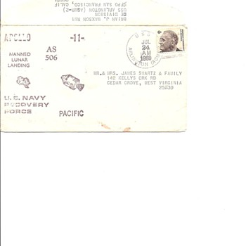 Apollo 11 envelope - Stamps