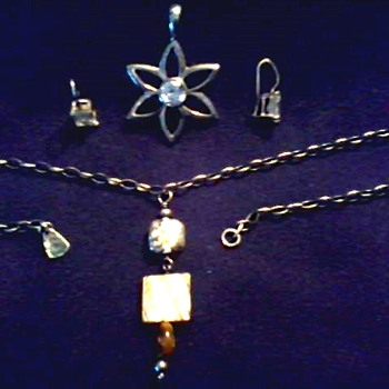 """Common Ground"" / .925 Silver Jewelry Lot / Same Unknown Makers Mark/ Unknown Age - Fine Jewelry"
