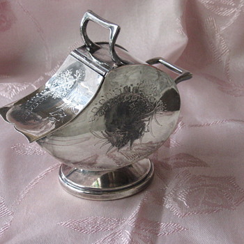 English Silver Plate Sugar Scuttle - Sterling Silver