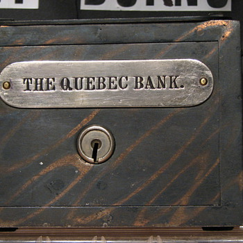 The Quebec Bank,Promotional Advertising Steel Bank