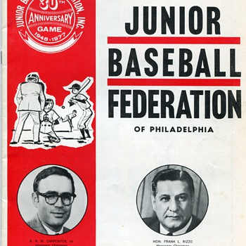 1977 Junior Baseball Federation of Philadelphia Program…Expos vs. Phillies - Baseball