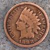 1888. 8 over 7  Indian head penny