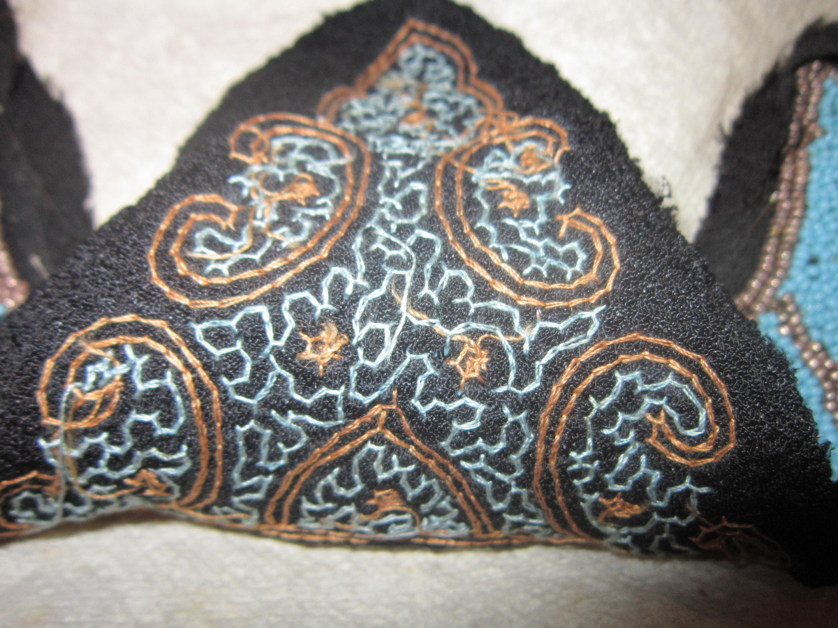 Victorian bead work embroidery clothing collectors weekly