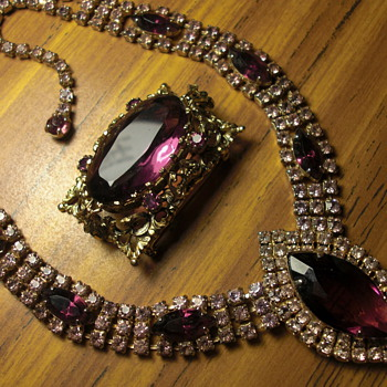 Russian Amethyst Necklace and Brooch