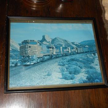 Framed Picture Santa Fe Going Through The Cajon Pass
