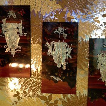 Asian panels with mother of pearl
