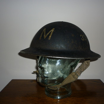 British WWII Messenger steel helmet. - Military and Wartime
