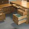 Romweber Viking Oak Secretary Desk w/ Right Hand Return