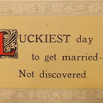 Comical Marriage Postcards