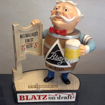 Bar Buddy - Blatz on draft - Breweriana