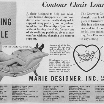 1950 Contour Chair Advertisement - Advertising