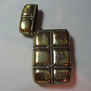 Antique Gilt Match Safe - Tobacciana