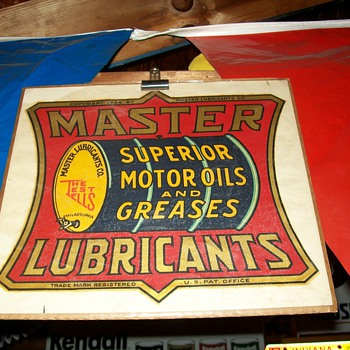 Gas and oil signs and a decal!