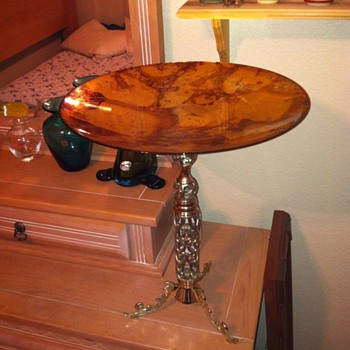 Custom art glass table - Furniture