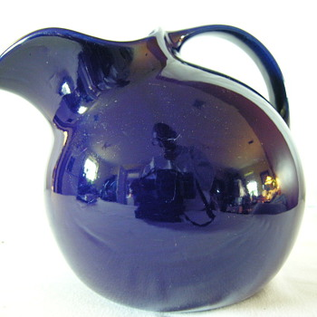 Striking Cobalt Blue Pitcher by Hall - Art Pottery
