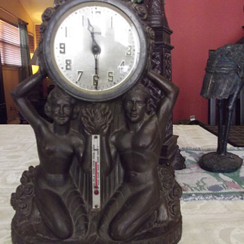 "1930's United Clock Corp. ""Flame of Life"" Model  - Art Deco"