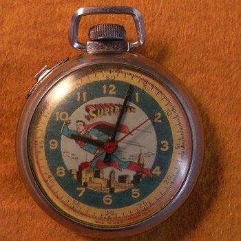 Bradley/Ingraham Superman Pocket/Stop Watch - Pocket Watches