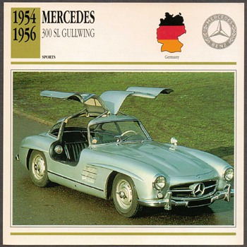 Vintage Car Card - Mercedes 300 SL - Classic Cars