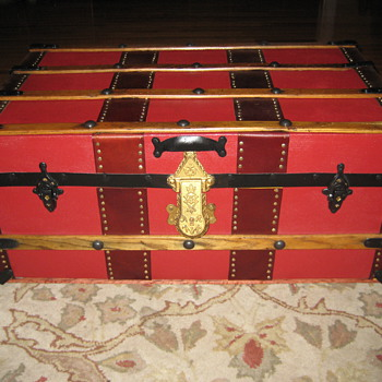 Small Repurposed Steamer Trunk - Furniture